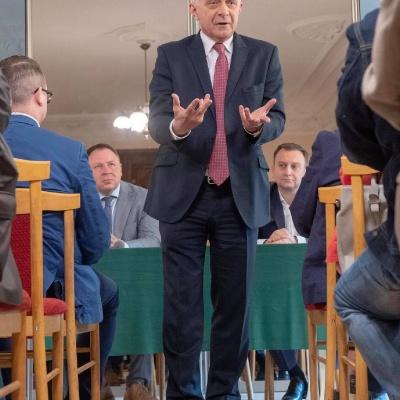 Premier Marek Belka w Zgierzu